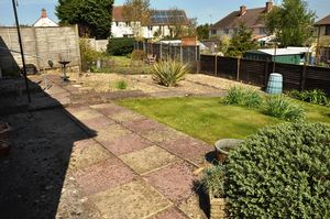 Rear view garden- click for photo gallery